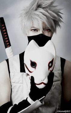 Hatake Kakashi cosplay By KumaQi熊祁 #Naruto #sasuke #anime #hero #cosplay comic