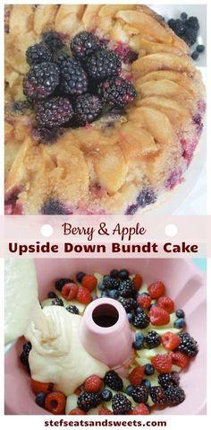 Healthy Dessert Recipes, Sweets Recipes, Candy Recipes, Vegan Recipes Easy, Cupcake Recipes, Delicious Desserts, Types Of Desserts, Easy Desserts, Berry Cake
