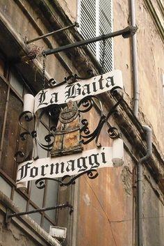 Cheese Shop in Bologna, Italy
