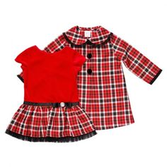 Toddler Plaid Dress and Coat Set - Youngland Dresses For Toddler & Girls - Events