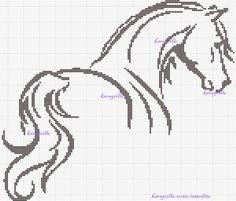 Horse cross stitch pattern...