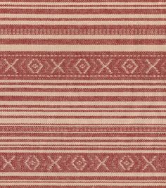 Southwest Dobby Stripe Red Tan Cotton