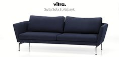 Vitra Suita Sofa 3-zitsbank  SHOP ONLINE: https://www.purelifestyle.be/home-office/meubels/athome/sofas/vitra-suita-sofa-3zitsbank-24854.html