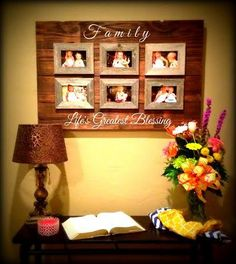 custom barnwood frames sign lifes greatest blessings 6 4x6 frames flash sale