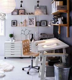 18 Drafting tables in interior designs Interiorforlife.com White drafting table
