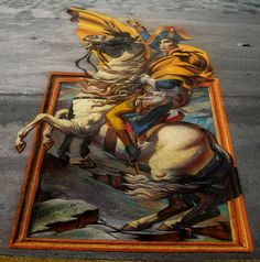 3D Street Painting - Napoleon Escapes | Flickr - Photo Sharing!