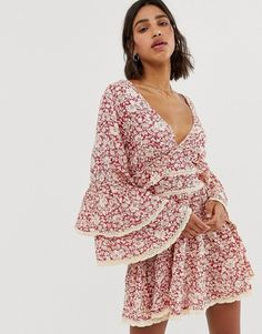 0bf57aef2b3f Free People Kristall floral print ruffle dress | ASOS Free People Sale,  Ruffles, Ruffle
