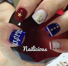 - only nails Usmc Nails, Military Nails, Marine Nails, Military Mom, Coffin Nails, Acrylic Nails, Graduation Nails, Pearl Nails, Holographic Nails