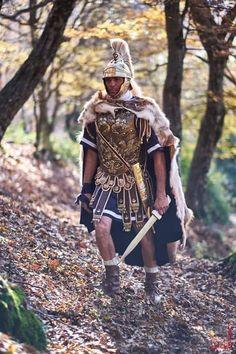 Roman officer reenactor