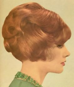 "1960s bouffant, My mom said it used to take her 45 minutes just to ""rat"" or tease her hair! WOW"