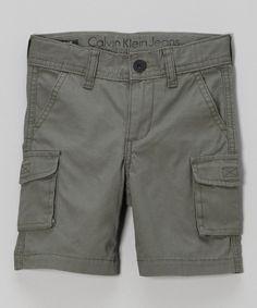 Calvin Klein Jeans Cast Iron Cargo Shorts - Infant & Toddler by Calvin Klein Jeans #zulily #zulilyfinds