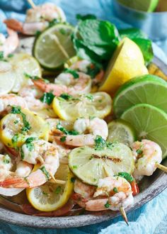 Citrus Grilled Shrimp Skewers are a must make before the summer is over.