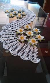 Resultado de imagen para manteles con flores tejidos crochet filet