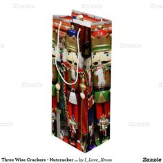 Three Wise Crackers - #Nutcracker Soldiers Wine Gift Bag by #I_Love_Xmas #Zazzle #Gravityx9 -