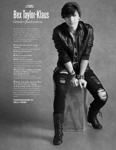 LA Fashion Magazine - December 2013 Issue Androgynous Hair, Androgynous Fashion, Audrey Jensen, Bex Taylor Klaus, Mtv Scream, Small Braids, Kim Possible, Cute Gay, My People