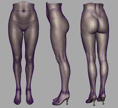 Female high-poly legs. (artist: Jinwoo Lee)