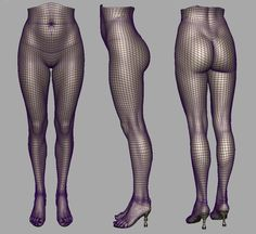 Female high-poly legs. (artist: Jinwoo Lee)