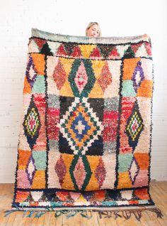 Stunning Boucherouite rug from Baba Souk
