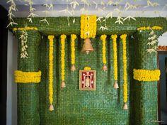 """#Marigold #coconutleaves and #lordBalaji Saturday positive vibes with Beautiful decor,"