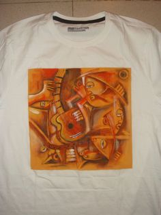 HAND PAINTED #TSHIRTS #ABSTRACT #AFRICANART AT BLACKHONEY STUDIO BY ANIL NAIR