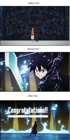 Sword Art Online Memes | When you actually PASS a test...