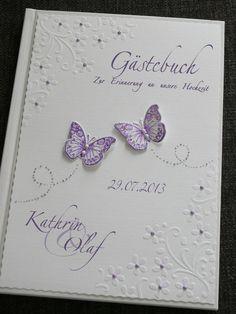 Gästebuch Hochzeit flieder von ele-bo auf DaWanda.com