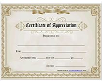 Free printable certificates certificate of appreciation certificate free printable certificate of appreciation award more yelopaper Choice Image