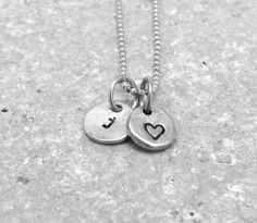 Tiny Letter j Necklace Sterling Silver Initial by GirlBurkeStudios, $27.50