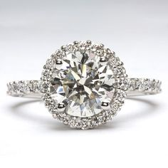 Classic and beautiful diamond engagement ring by Ilya Kunin of Chicago, IL.  See a huge variety of options in our engagement ring gallery: http://www.custommade.com/gallery/custom-engagement-rings/