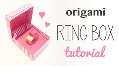 Learn how to make an origami ring box with a hinge lid, great for valentines day! Use it to give a real jewellery gift or make an origami ring to fit! ⬇︎ Exp...