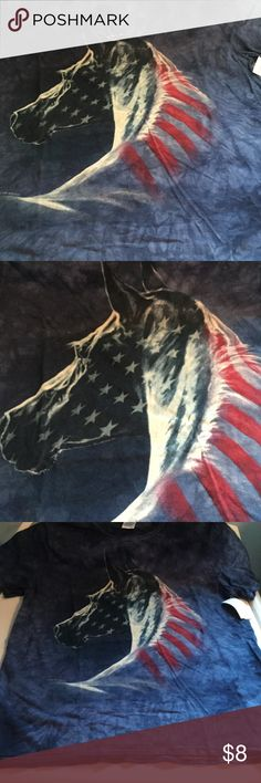 Horse tshirt USA patriotic 4th of July Brand new with tags. Horse lovers tshirt. Red white and blue Tops Tees - Short Sleeve