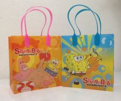 Spongebob Party Favor Goodie Small Gift Bags