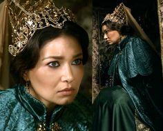 muhtesem yuzyil kosem, kosem sultan, cape, headpiece