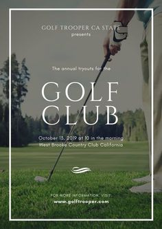 Browse Canva's collection of poster templates and promote every event with a visually stunning design you can personalize and print in minutes! Golf Invitation, Printable Invitations, Invitation Design, Invitation Templates, Invites, Front Cover Designs, Event Poster Template, Math Tutor, Brochure Design