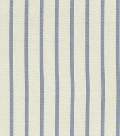 Upholstery Fabric-Waverly Social Stripe/ChambrayUpholstery Fabric-Waverly Social Stripe/Chambray,