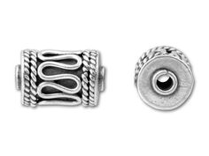 Sterling Silver Bali Cylinder Spacer Bead