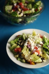 #CookClub recipe: Mexican Chopped Salad with corn, perfect for summer