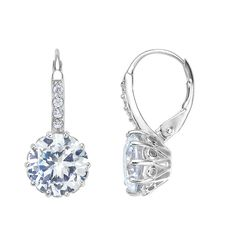 Classic and elegant, our Pamela earring silver is rhodium plated and made with our proprietary DiAmi stones and sterling silver. Argent Sterling, Sterling Silver, Bling, Love Your Life, Boss Lady, Silver Earrings, Your Style, Jewelry Watches, Blue And White