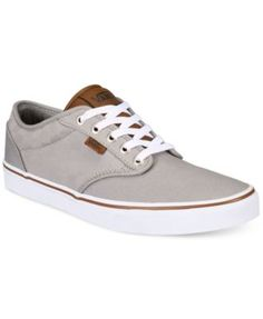 Vans Men's Atwood Check Canvas Sneakers | macys.com