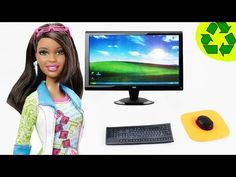 How to make a Doll Desktop Computer - YouTube