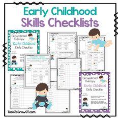 Early Childhood Self Help Skills Checklist. Quick screen ...