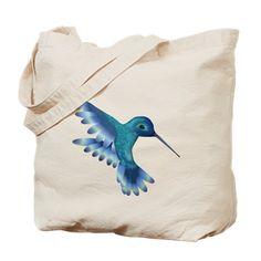 Iridescent Instant Hummingbird Tote Bag