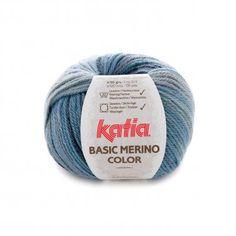 yarn wool basicmerinocolor knit merino superwash acrylic green grey blue off white autumn winter katia 207 p Sewing Essentials, Mens Essentials, Crochet Hooks, Knit Crochet, Acrylic Fiber, Carpet Bag, Fancy, Yarn Brands, Yarn Needle