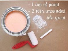 Make your own custom colored chalkboard