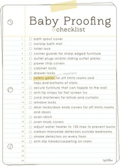 Bellyitch: Time to Baby Proof your home: Use this Printable Checklist to get you started