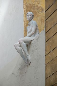 Pensiveness. On of my favourite sculptures in a small side street in Prague,