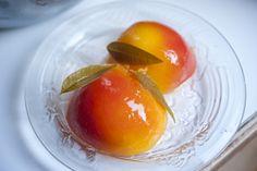Lemon Verbena Poached Peaches