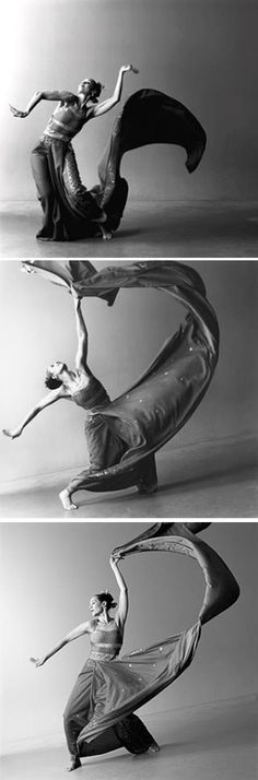 dancer Carmen de Lavallade performing a West-Indian influenced dance where a story is told mainly using hand movements. photographed by Lois Greenfield, 1983