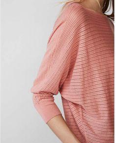 4e93dae2243c Express sheer stitch dolman sweater Cardigan Sweaters For Women