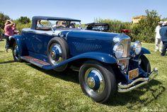 Cars 1930 Duesenberg J Murphy Roadster Blue Fvr